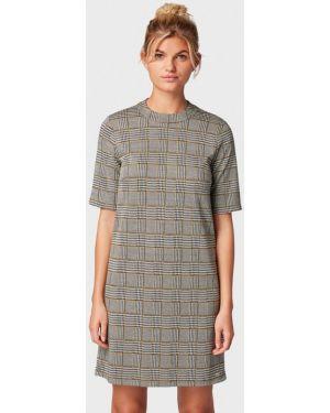 Джинсовое платье серое прямое Tom Tailor Denim