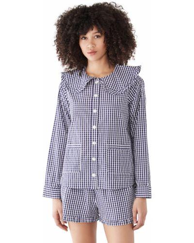 Хлопковая пижама с длинными рукавами с карманами Sea