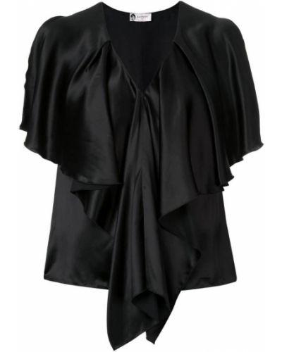 Блузка с V-образным вырезом с драпировкой Lanvin