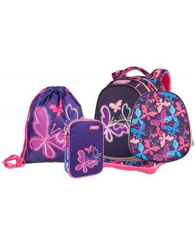 Розовый школьный ранец с бабочкой Target