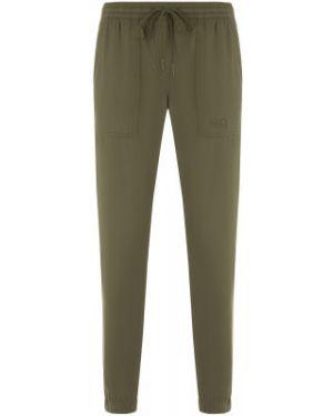 Спортивные зеленые зауженные брюки с поясом Jack Wolfskin
