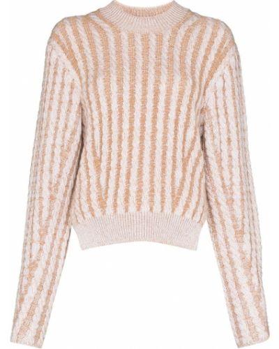 Шерстяной длинный свитер круглый с вырезом Chloé