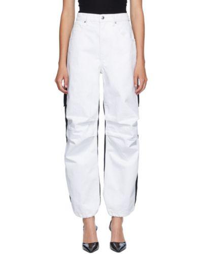 Прямые белые джинсы с карманами Alexander Wang