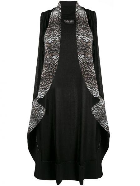 Черное пальто без рукавов прозрачное Le Petite Robe Di Chiara Boni