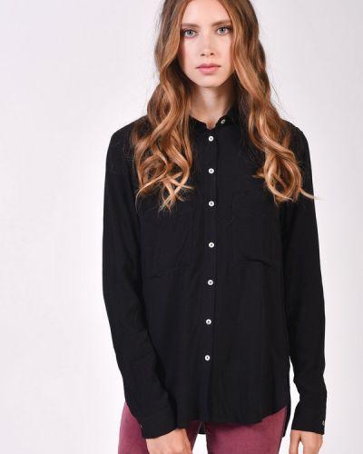 Блузка из вискозы - черная Alcott