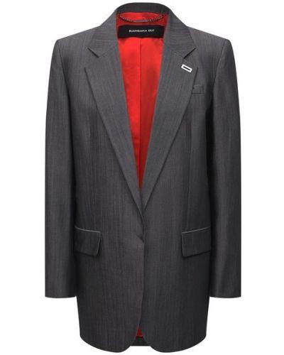 Шерстяной пиджак - серый Barbara Bui