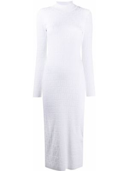 Платье миди прямое с рукавами Fendi