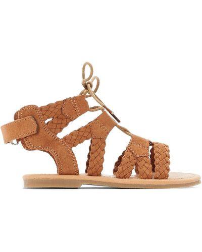 Открытые босоножки на каблуке на шнуровке Laredoute