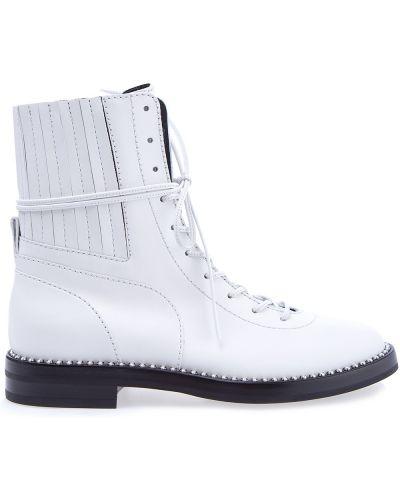 Ботинки байкерские на молнии кожаные Casadei