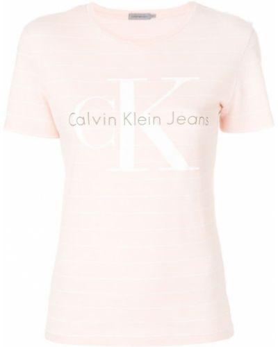 футболка в полоску с логотипом Calvin Klein Jeans
