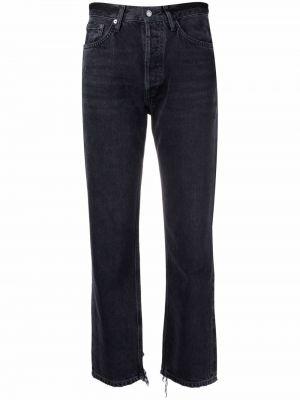Хлопковые укороченные джинсы классические Agolde