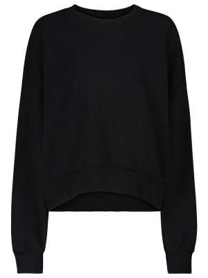 Хлопковый свитшот - черный Velvet