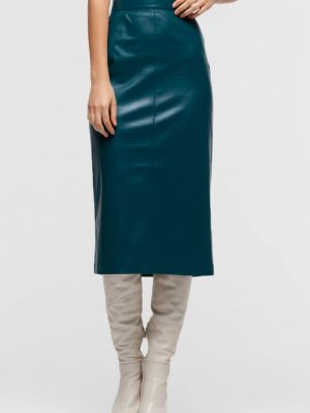Кожаная юбка весенняя зеленый Lova