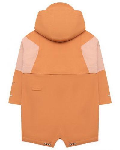 Хлопковый оранжевый плащ с капюшоном Gosoaky