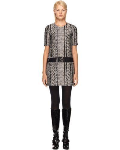 Платье мини с поясом шерстяное Viktor & Rolf