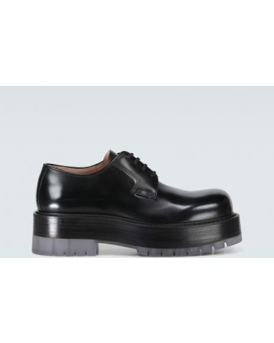 Черные кожаные туфли на платформе Bottega Veneta