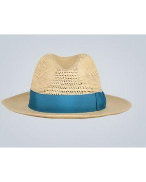 Шляпа соломенная синий Borsalino
