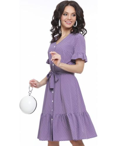 Платье с поясом с оборками из штапеля Dstrend