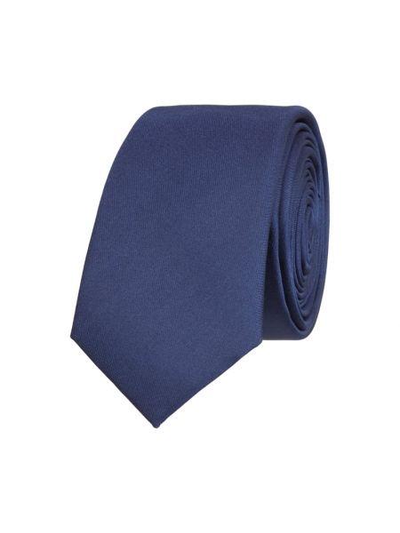 Niebieski krawat z jedwabiu Monti