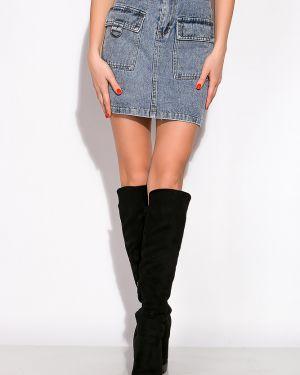 Джинсовая юбка с поясом Time Of Style
