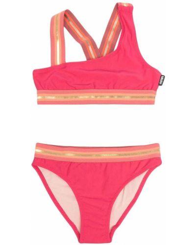 Różowy bikini asymetryczny z dekoltem w serek Molo