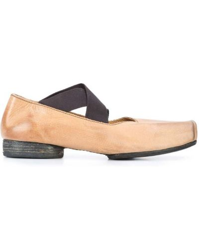 Бежевые балетки кожаные Uma Wang