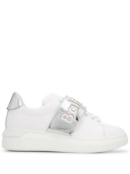 Белые кожаные балетки Baldinini
