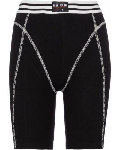 Ватные хлопковые черные шорты Adam Selman Sport