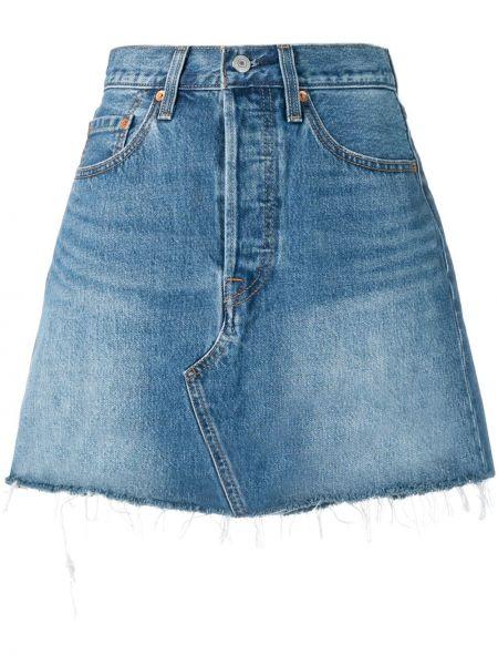Синяя джинсовая юбка на молнии с поясом Levi's®