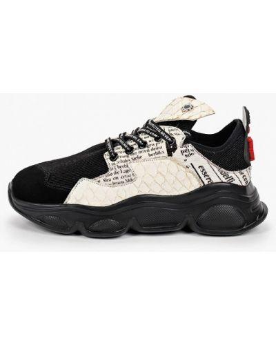 Кожаные черные кроссовки Tuffoni