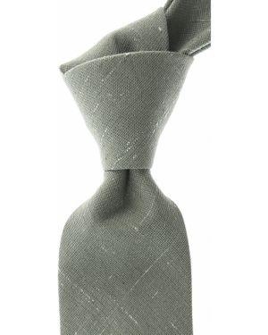Zielony krawat z jedwabiu Belvest