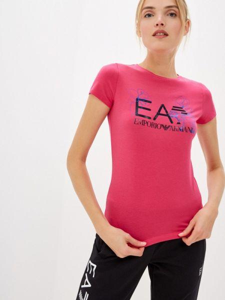 Поло розовый футбольный Ea7