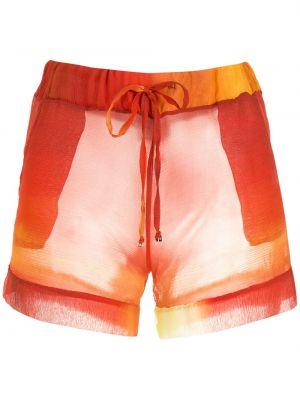 Оранжевые шорты с манжетами Amir Slama