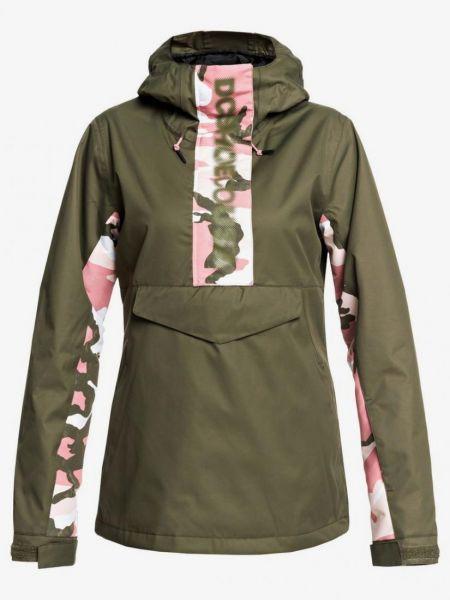 Куртка горнолыжная с капюшоном - зеленая Dc Shoes