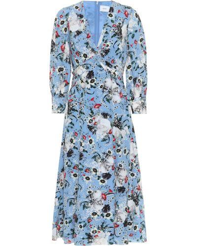 Платье миди восточное с цветочным принтом Erdem