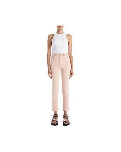 Розовые прямые джинсы Mother