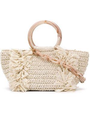 Нейлоновая сумка-тоут с бахромой Carolina Santo Domingo