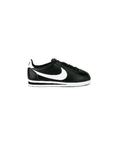 Кожаные кроссовки черные Nike