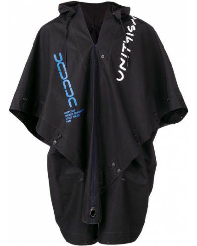 Черное пальто на пуговицах United Standard