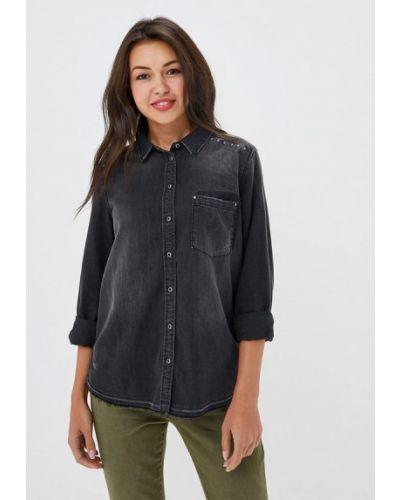 Джинсовая рубашка с длинным рукавом черная S.oliver