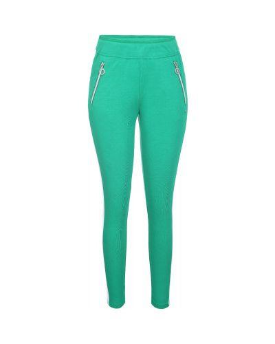 Спортивные брюки из полиэстера - зеленые Luhta
