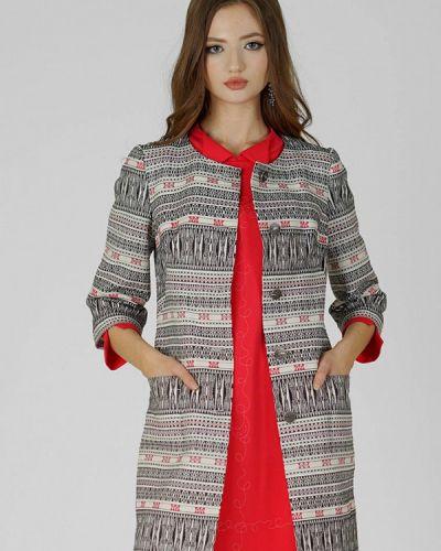 Разноцветное пальто Ано