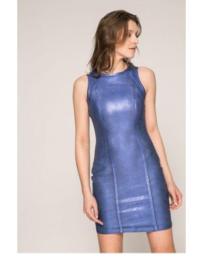 Платье мини хлопковое с вырезом Guess Jeans