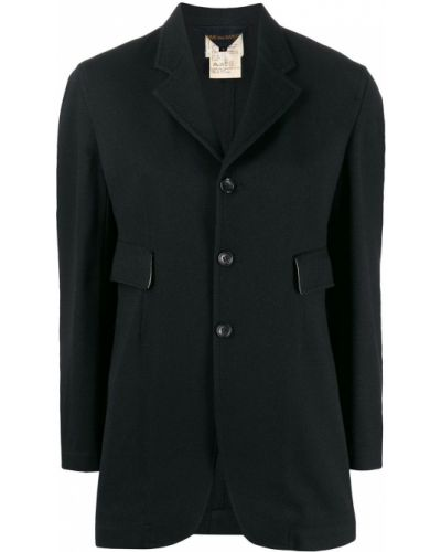 Прямая черная длинная куртка Comme Des Garçons Pre-owned