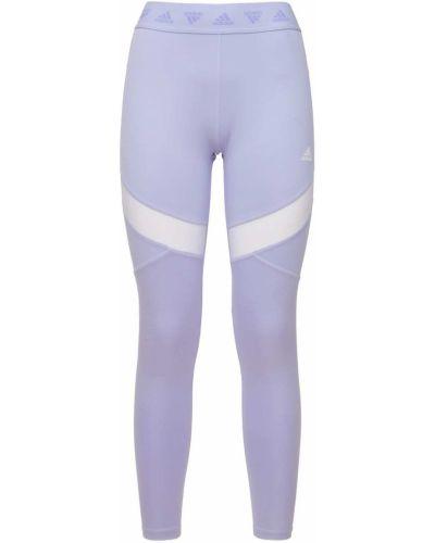 Rajstopy z siateczką - fioletowe Adidas Performance