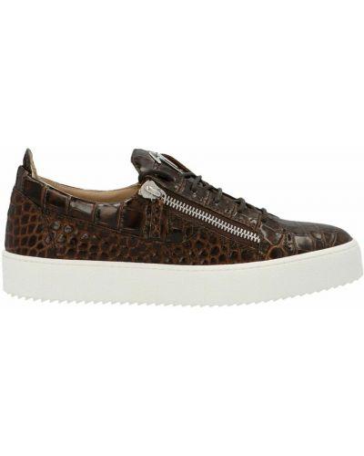 Sneakersy - brązowe Giuseppe Zanotti