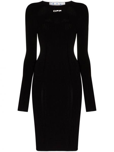 Платье миди бесшовное с вырезом Off-white