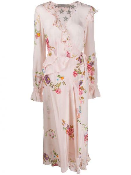 Платье с запахом с V-образным вырезом на молнии из вискозы Preen Line