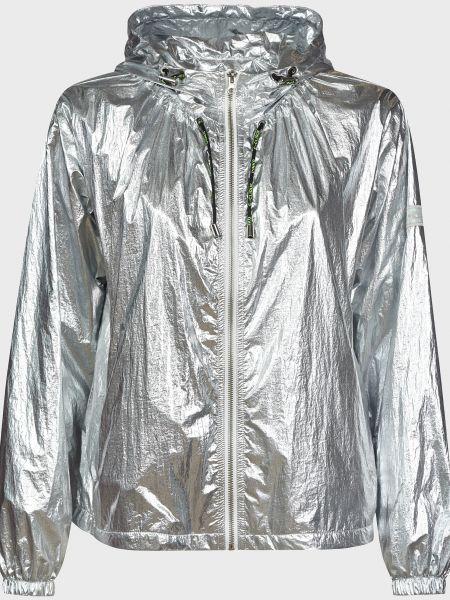 Серебряная куртка на молнии с подкладкой Pinko