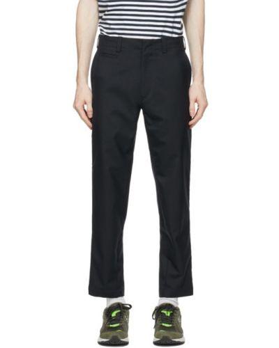Spodnie wełniane z paskiem Nanamica